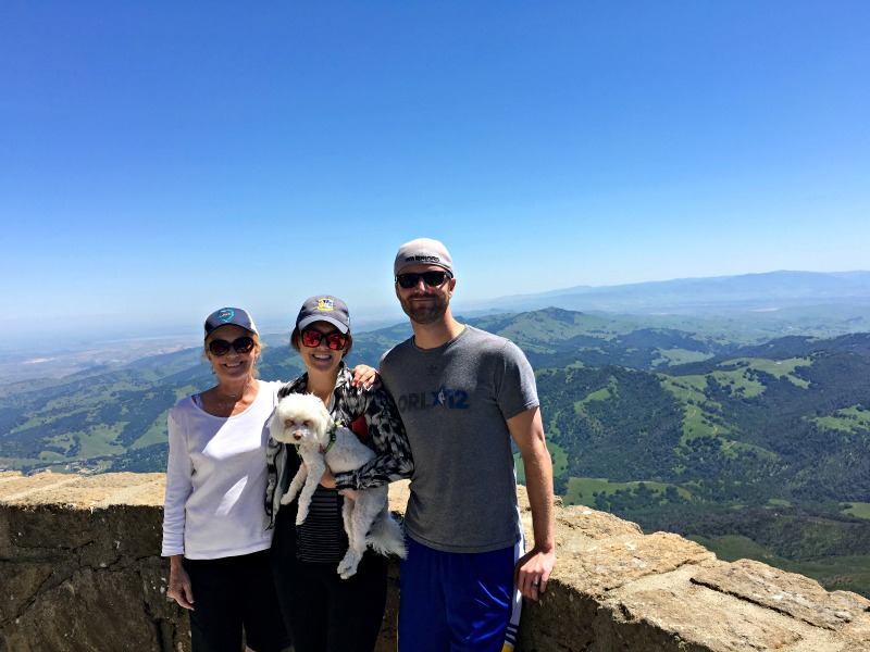 Mom visit - Group at Mt Diablo