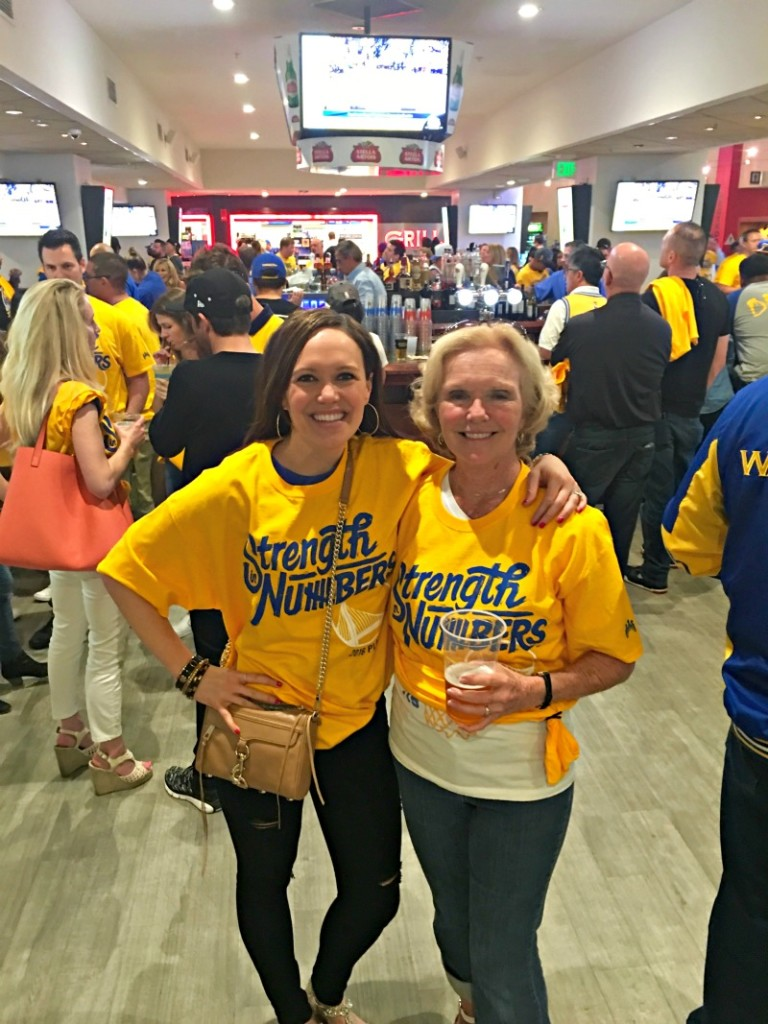 Mom visit - Warriors game in the Club