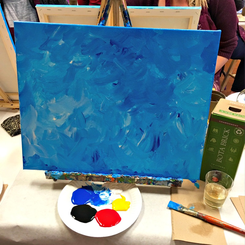 Painting at Canvas and Cabernet by A Lady Goes West