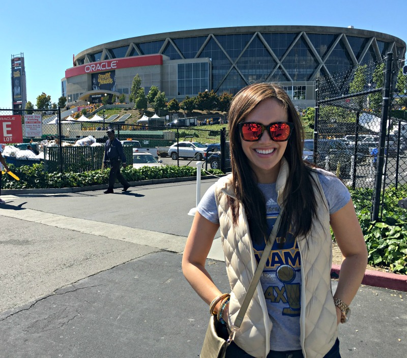 Ashley at Oracle arena by A Lady Goes West