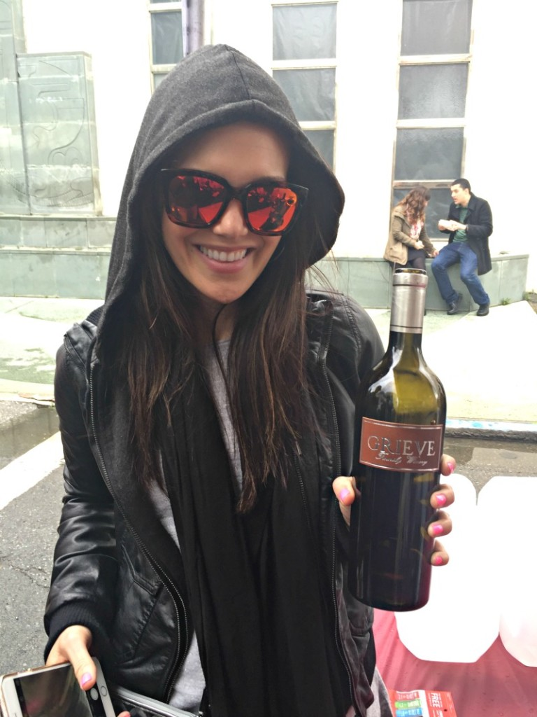Ashley at San Francisco Uncorked in the rain