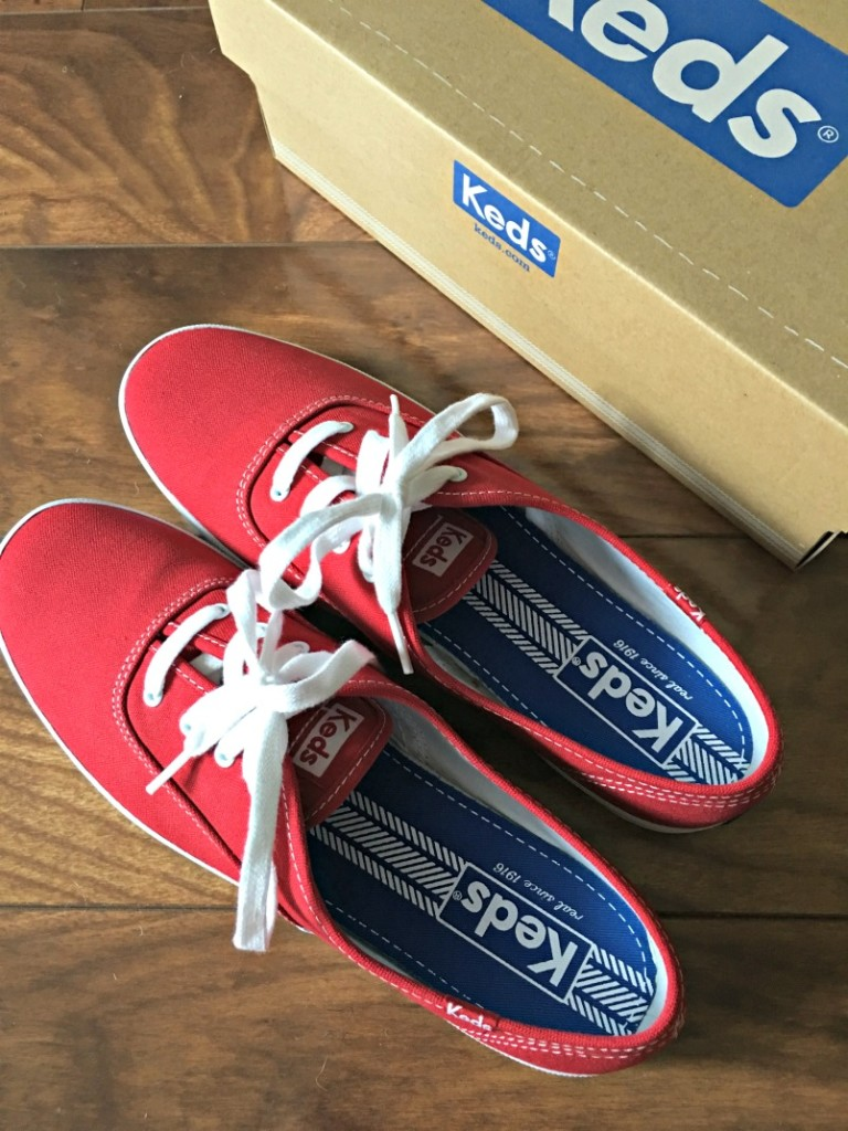 Red Canvas Keds by A Lady Goes West