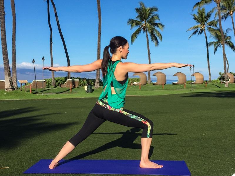 Beach Yoga on Ashley's Maui Travel Guide