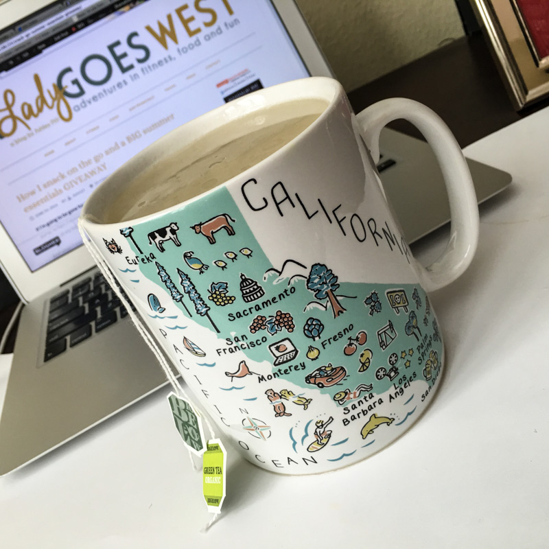 Big California mug favorite by A Lady Goes West