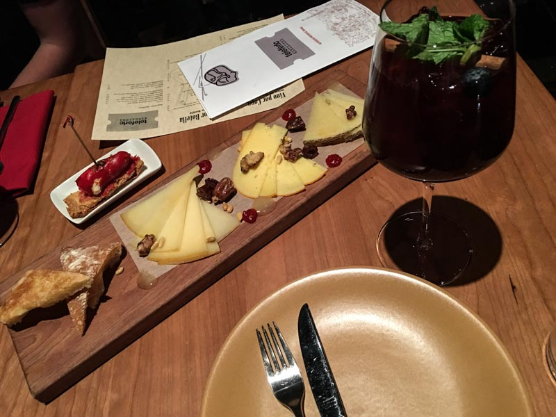 Teleferic Barcelona cheese plate by A Lady Goes West