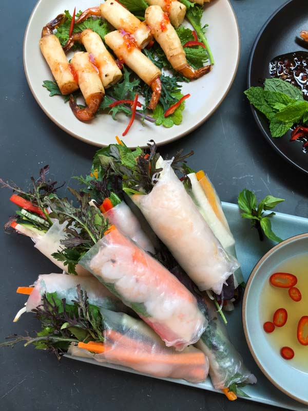 spring rolls made at adobe event - favorite things