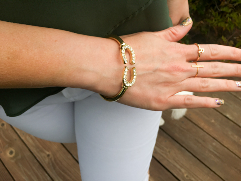 Ashley in a LE TOTE bracelet by A Lady Goes West