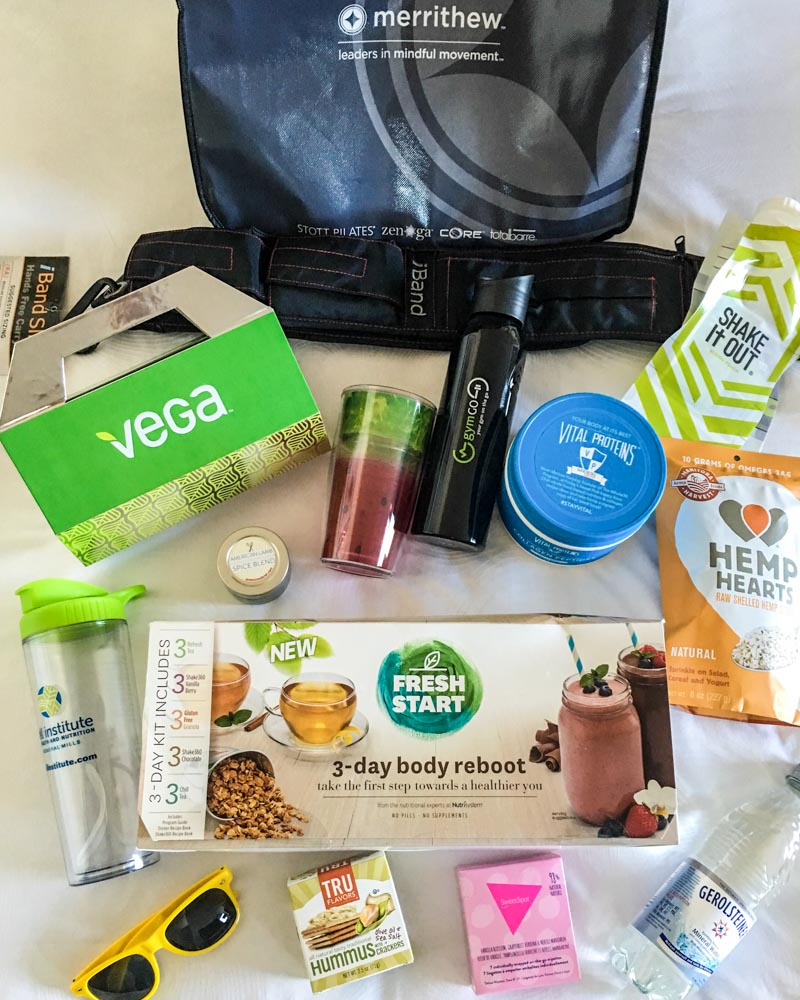 BlogFest goody bag by A Lady Goes West