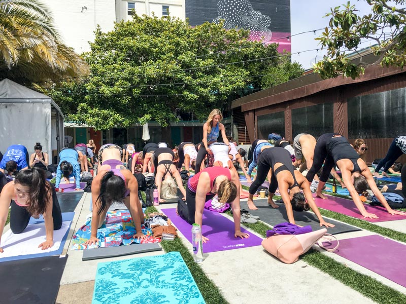 CorePower yoga class at Phoenix Hotel in San Francisco A Lady Goes West