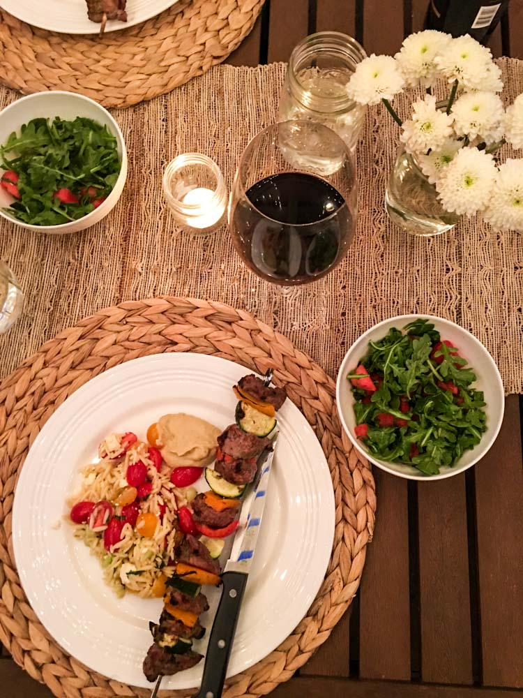 Friends dinner party meal by A Lady Goes West