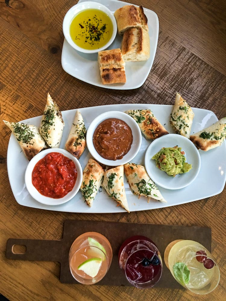 Spring rolls and bread at California Pizza Kitchen by A Lady Goes West