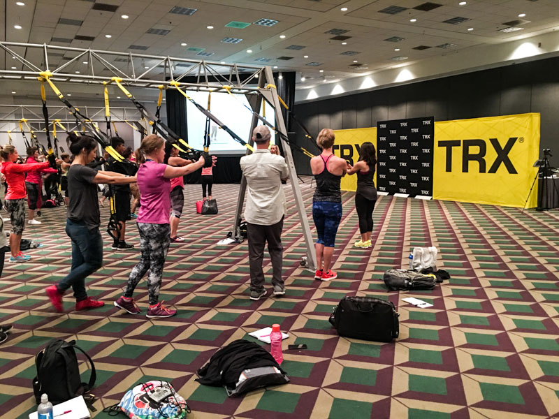 TRX Training at IDEA BlogFest by A Lady Goes West