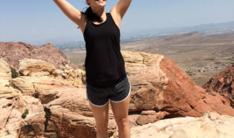 Ashley on top of Red Rock Canyon in Vegas by A Lady Goes West