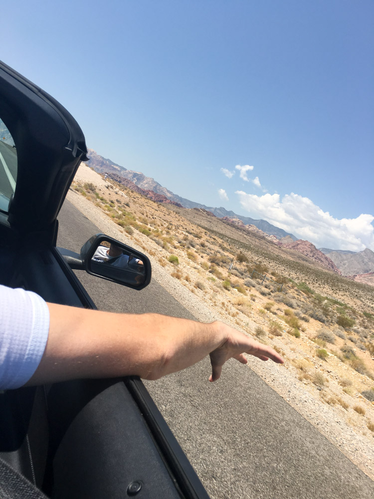 Convertible riding in Vegas by A Lady Goes West