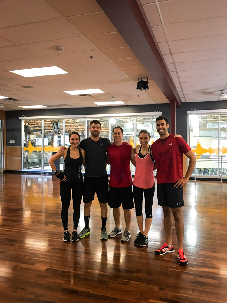Group of friends after BODYPUMP by A Lady Goes West