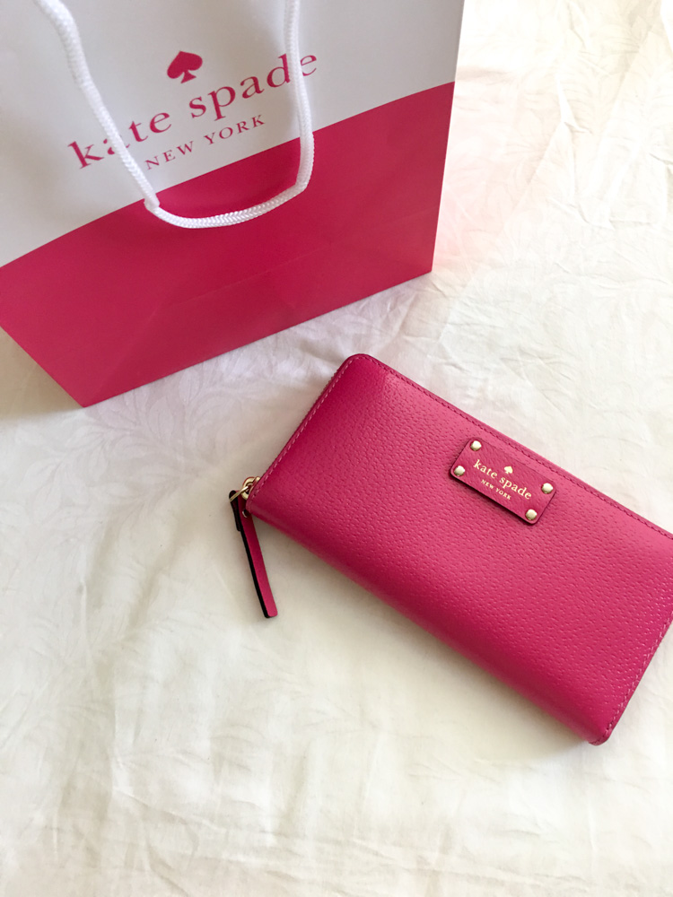 New pink Kate Spade wallet by A Lady Goes West