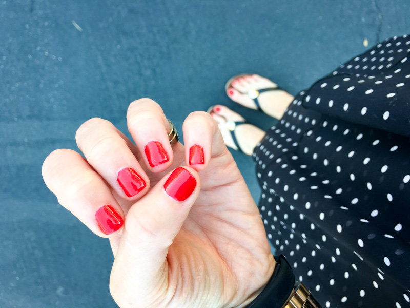 Red nails by A Lady Goes West