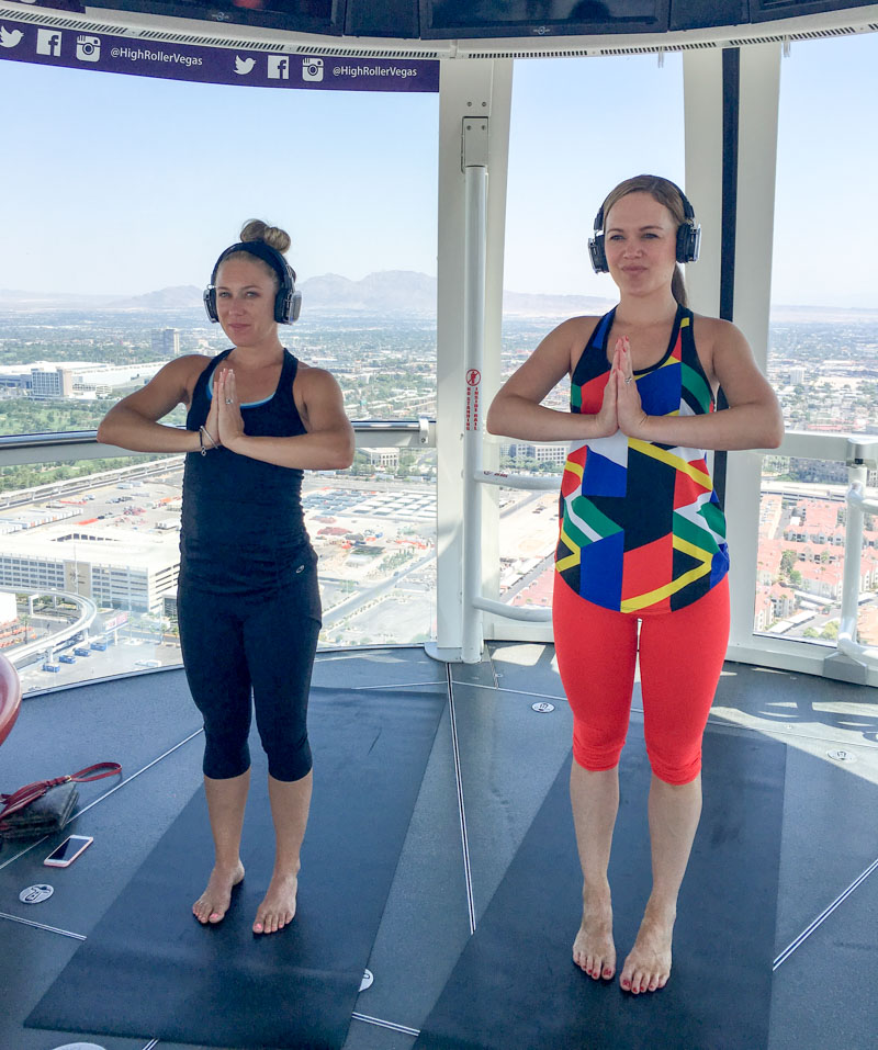 Yoga in the High Roller in Vegas by A Lady Goes West