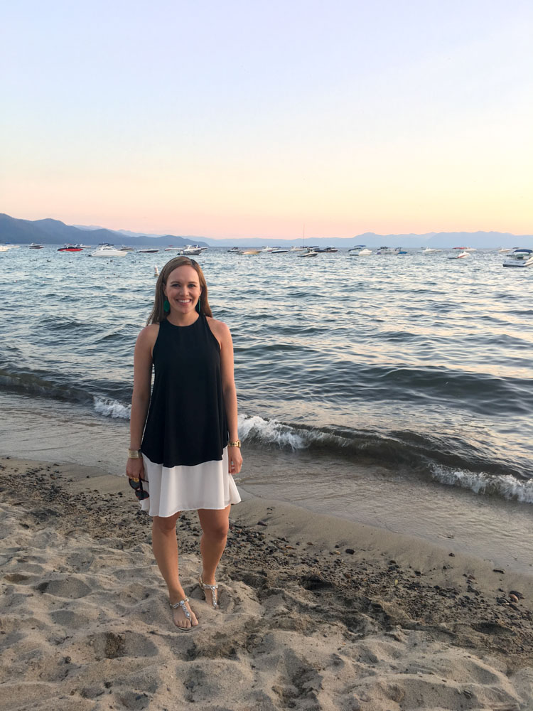 Ashley at sunset in Lake Tahoe by A Lady Goes West