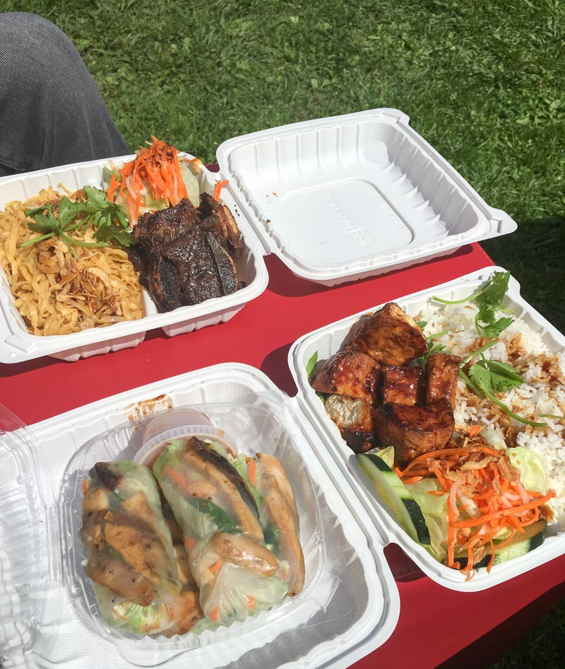 Food truck lunch at Tour de Fat by A Lady Goes West