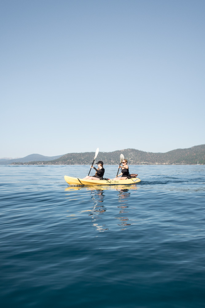 Kayaking in Lake Tahoe by A Lady Goes West