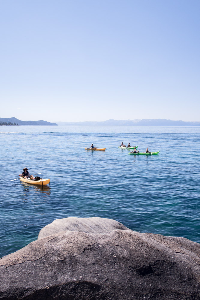 Kayaks on Lake Tahoe in the Summer by A Lady Goes West