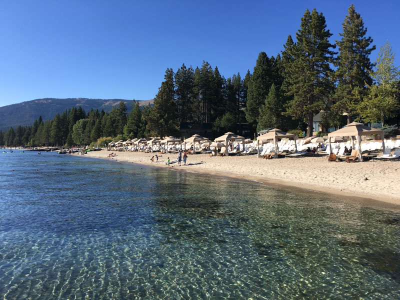 Tahoe Beach by A Lady Goes West