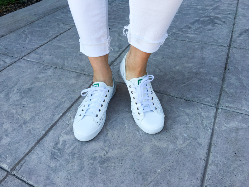 White Keds Shoes by A Lady Goes West