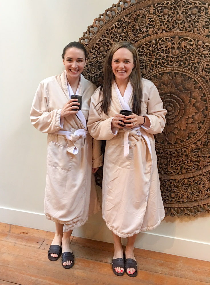 Ashley and Jill at SenSpa by A Lady Goes West