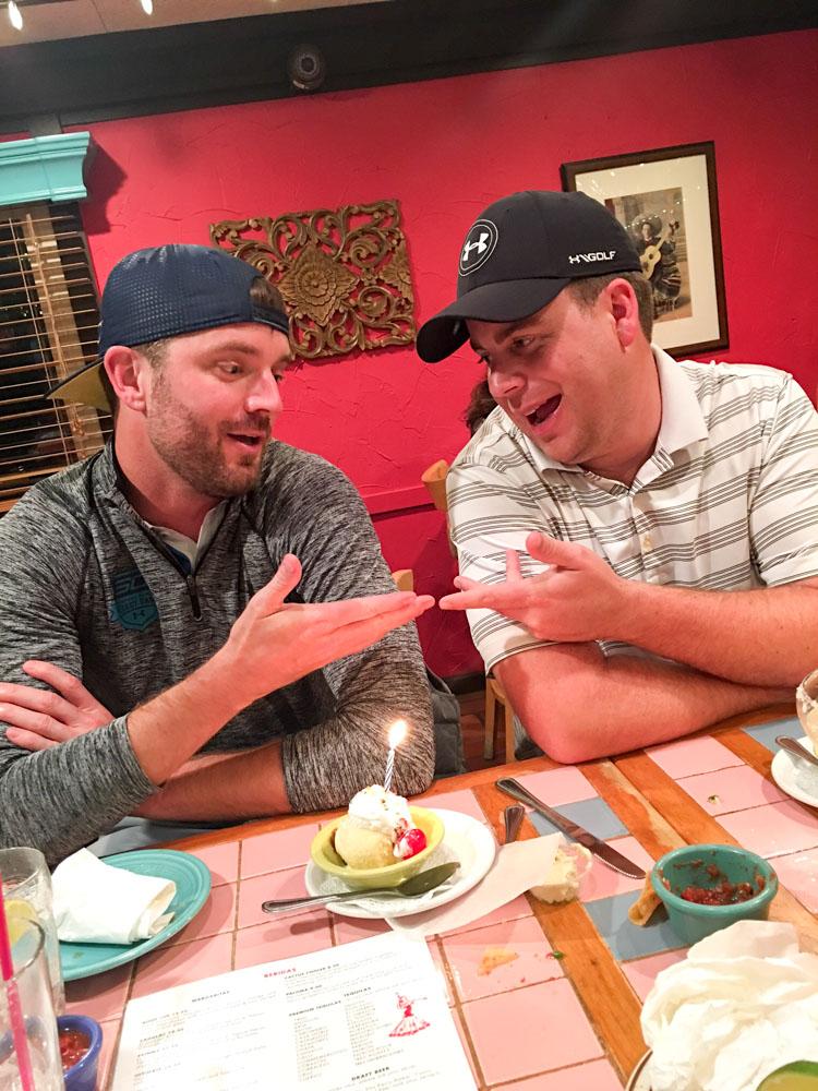 Birthday boys at El Charro