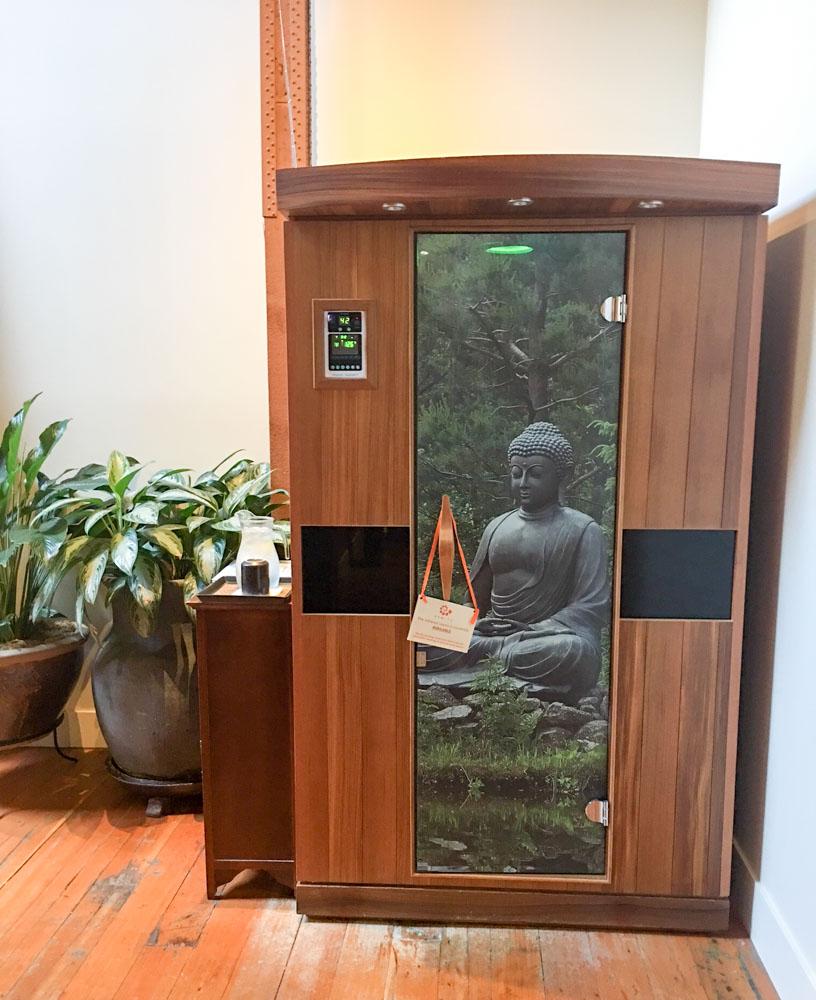 Infrared sauna at SenSpa