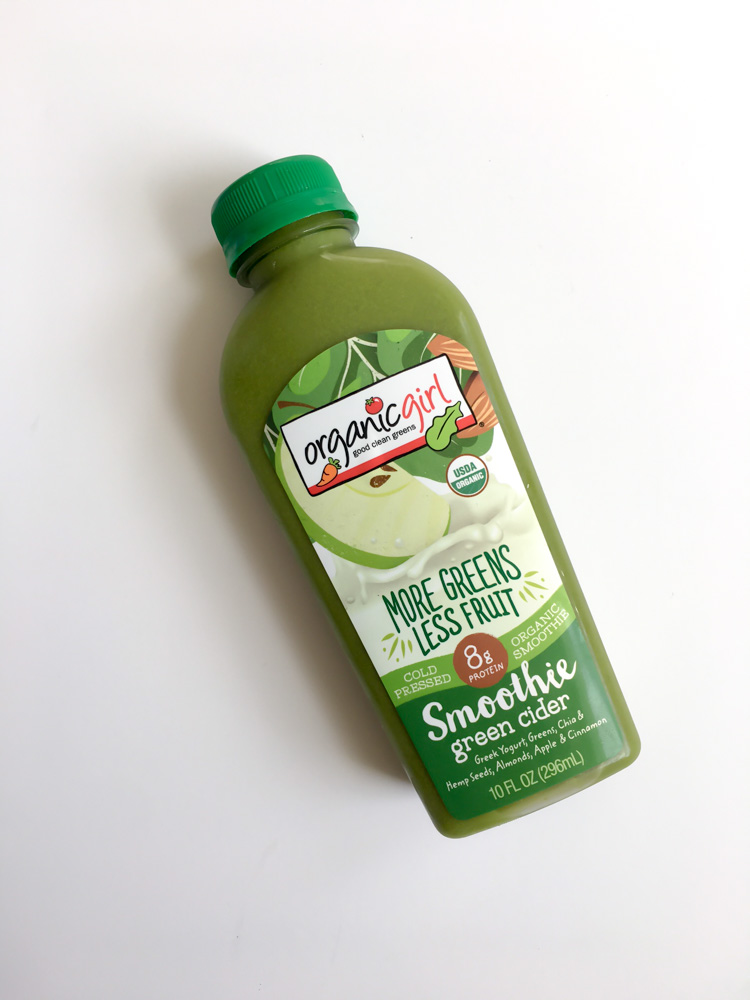 Organic Girl green smoothie by A Lady Goes West