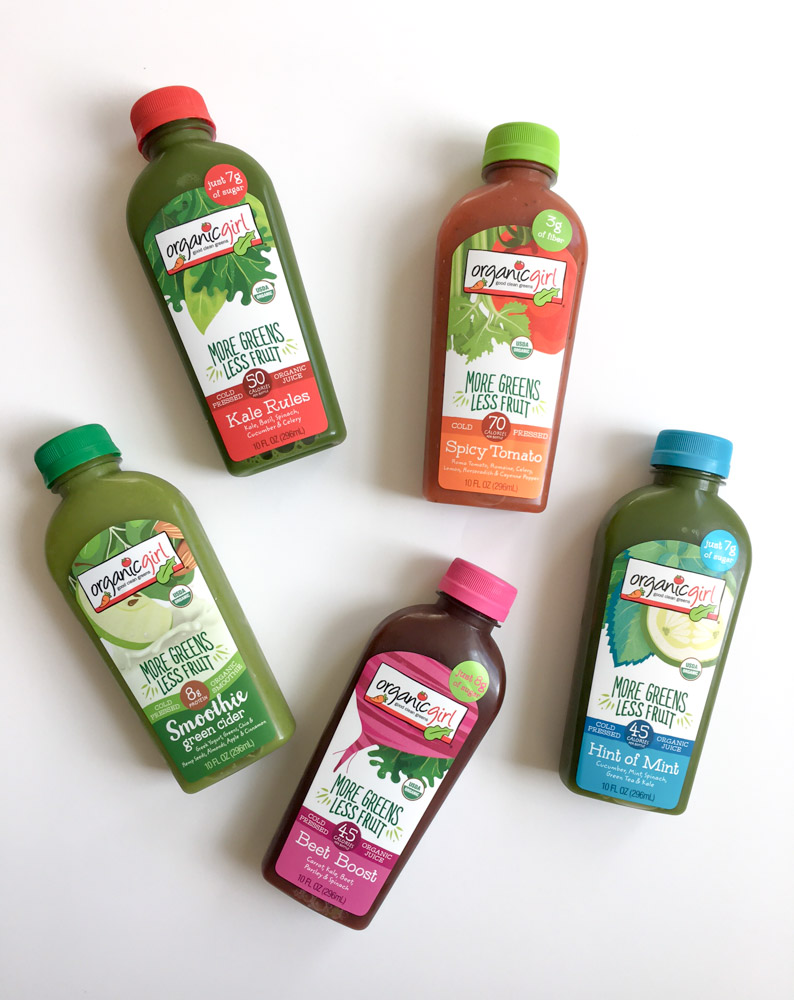 Organic Girl juices by A Lady Goes West