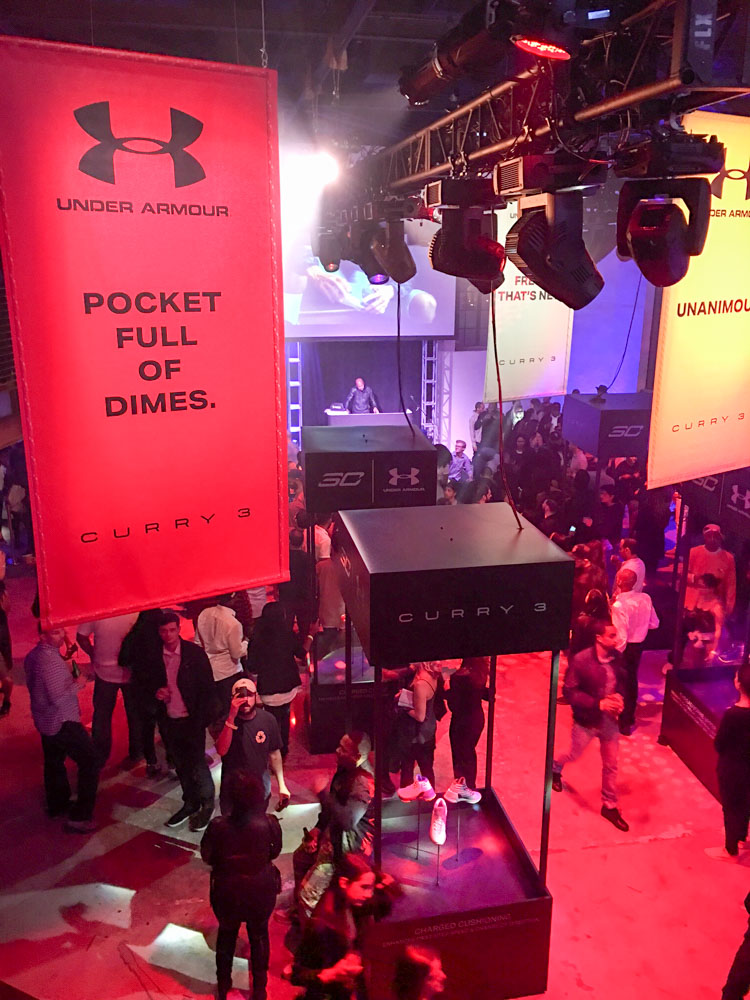 Under Armour party