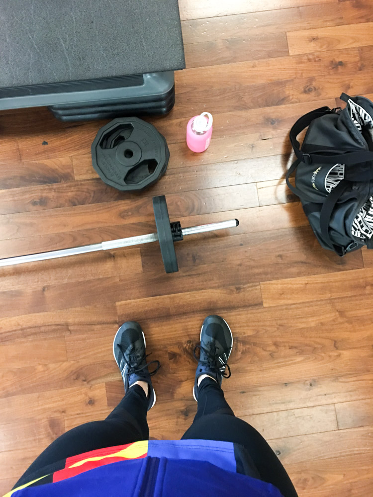 BODYPUMP set-up by A Lady Goes West