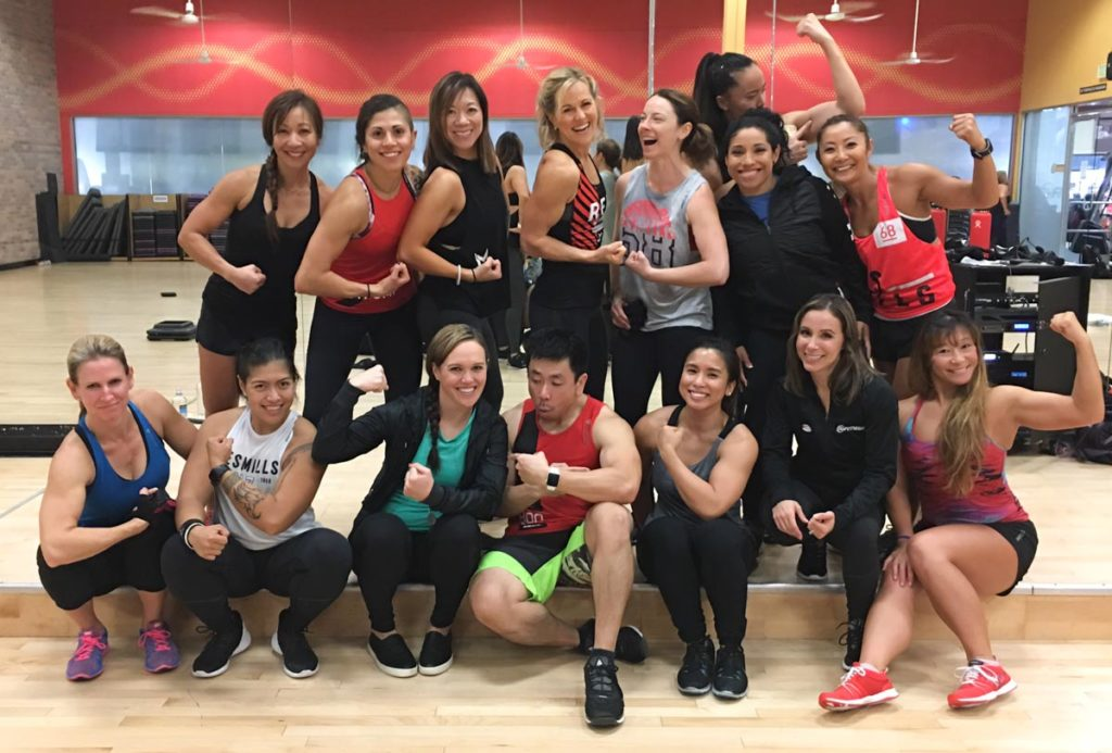 Bay Area BODYPUMP instructors by A Lady Goes West