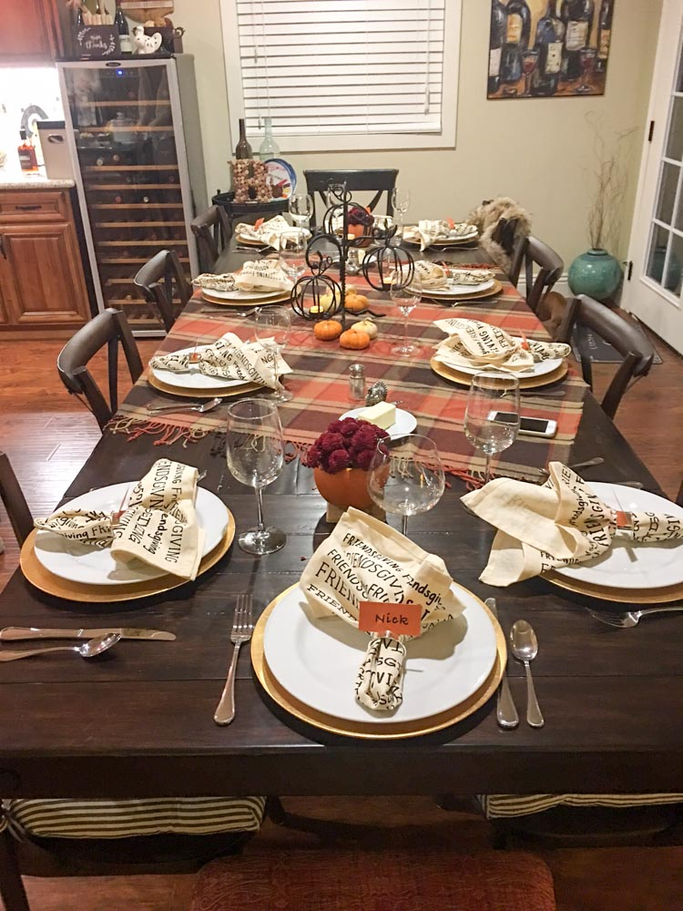 Friendsgiving table by A Lady Goes West