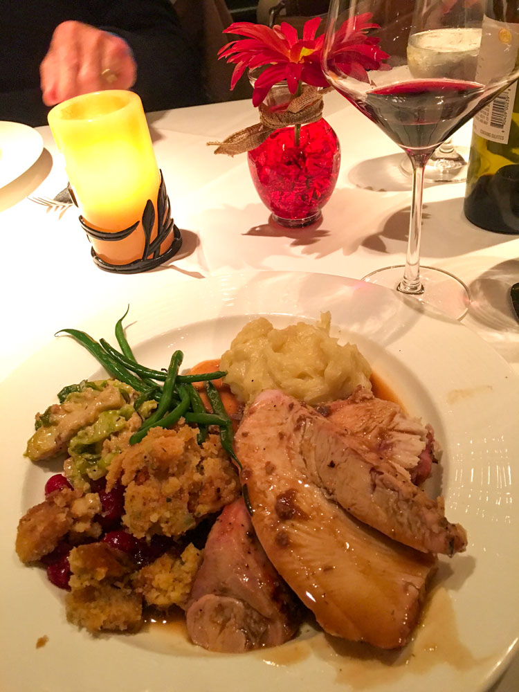 Grasing's Thanksgiving meal by A Lady Goes West
