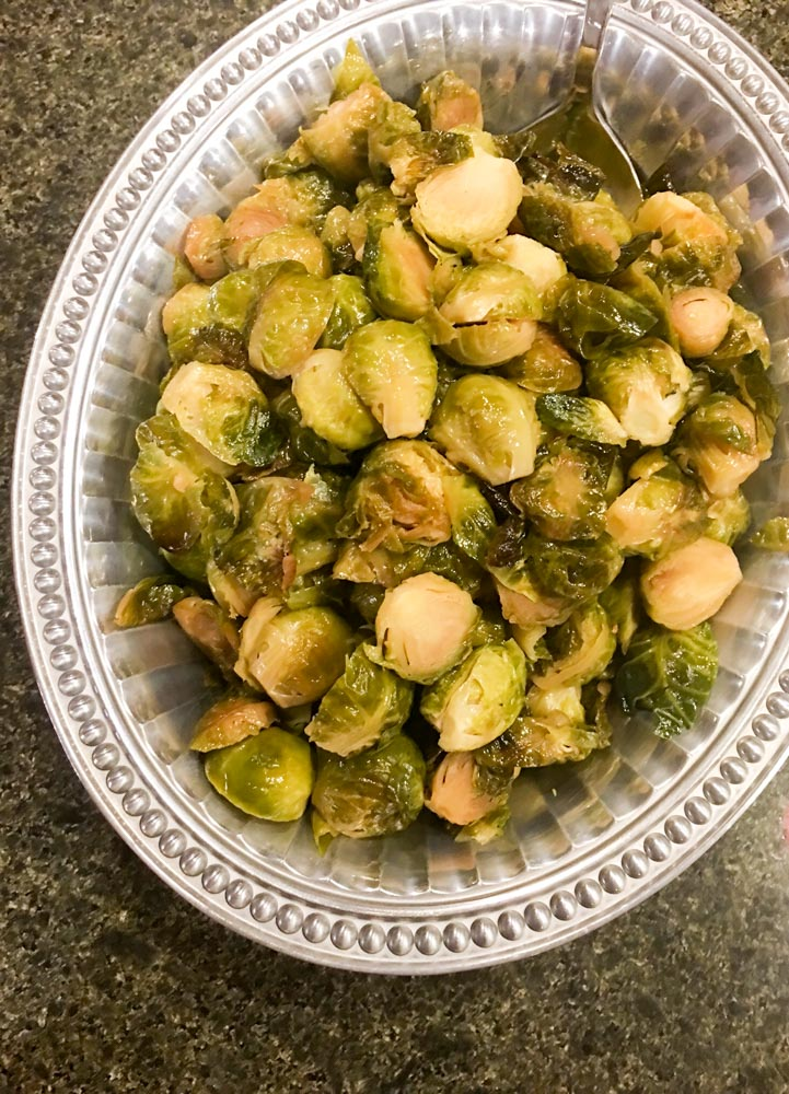 Maple roasted Brussel sprouts recipe by A Lady Goes West