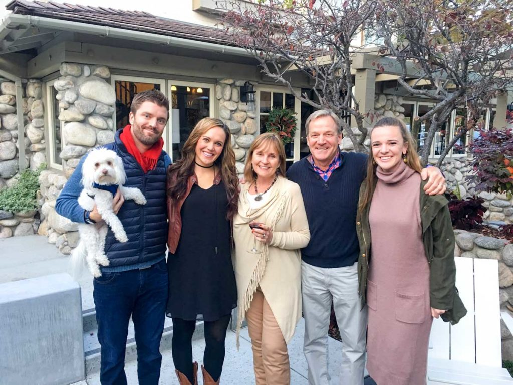 Pitt family on Thanksgiving in Carmel by A Lady Goes West