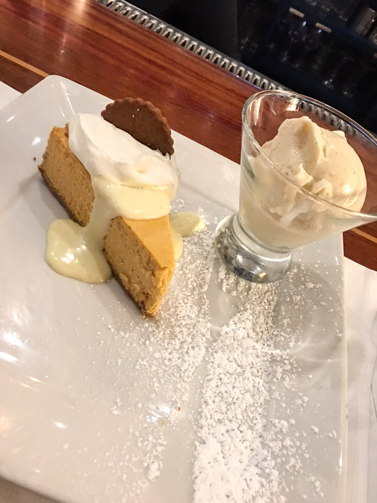 Pumpkin cheesecake at Walnut Creek Yacht Club by A Lady Goes West