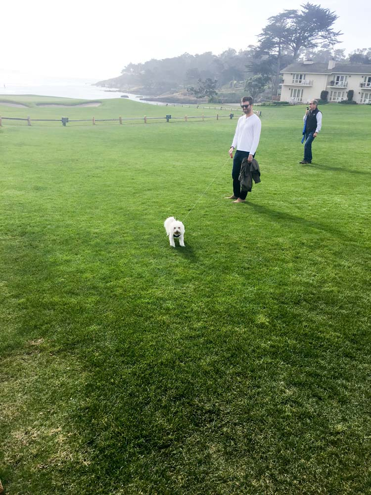 Rudy and Dave at Pebble Beach by A Lady Goes West