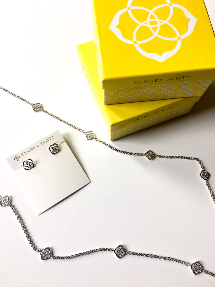 Silver Kendra Scott jewelry by A Lady Goes West