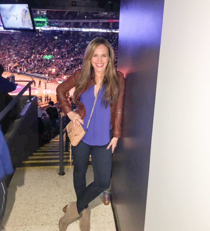 Ashley at the Warriors game by A Lady Goes West