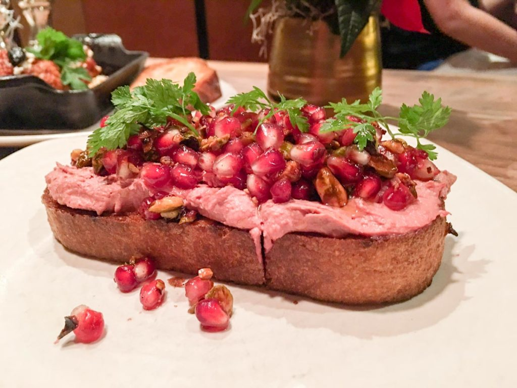 Chicken liver toast at Bluestem Brasserie by A Lady Goes West