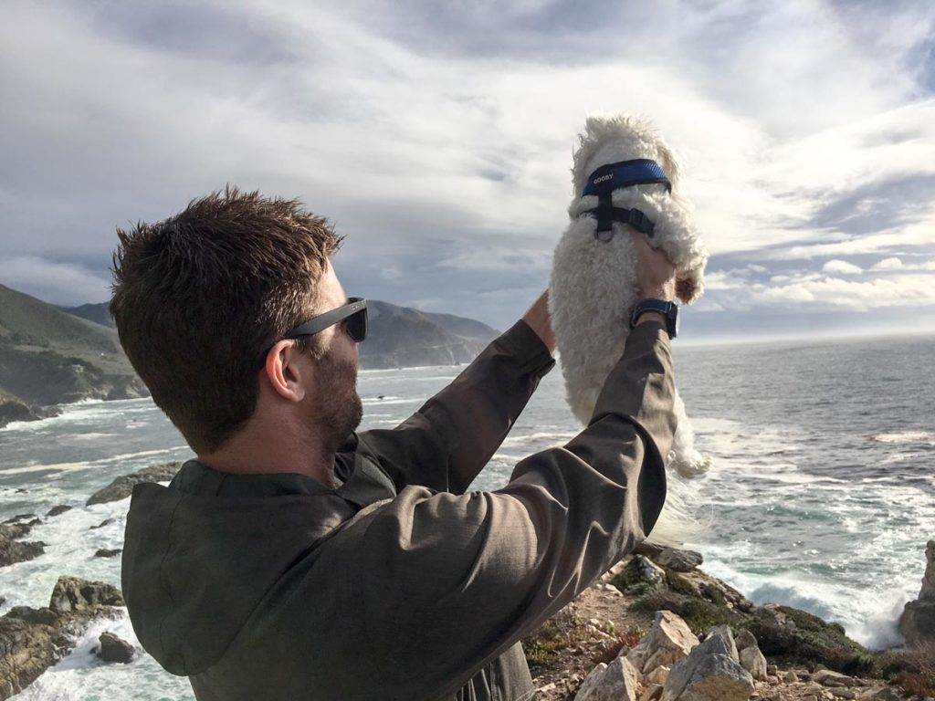 Dave and Rudy at Big Sur by A Lady Goes West