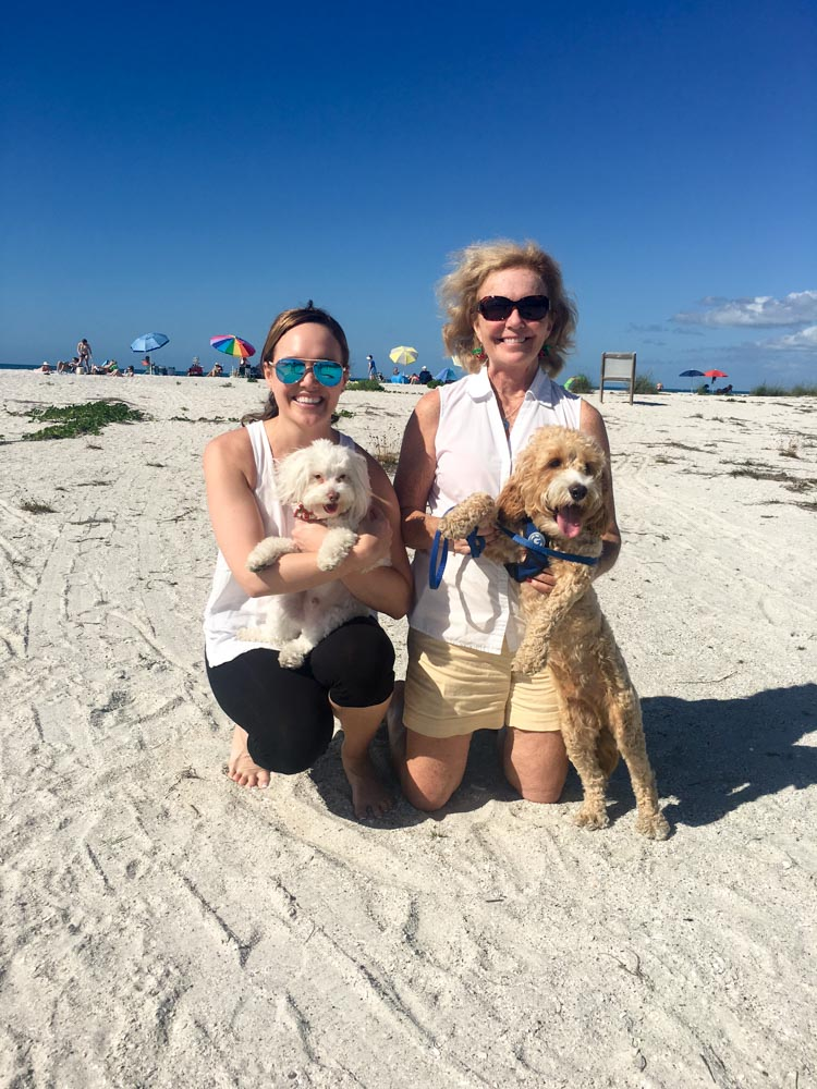 Dogs at Boca Grande by A Lady Goes West