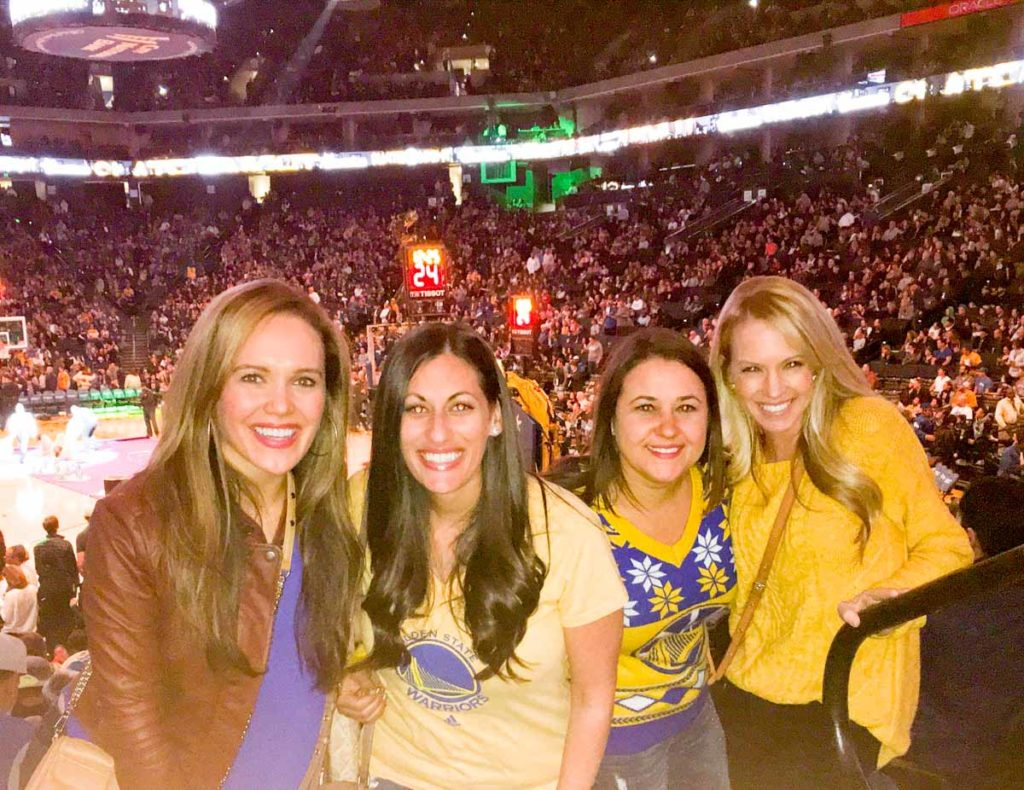Girls at the Warriors game by A Lady Goes West