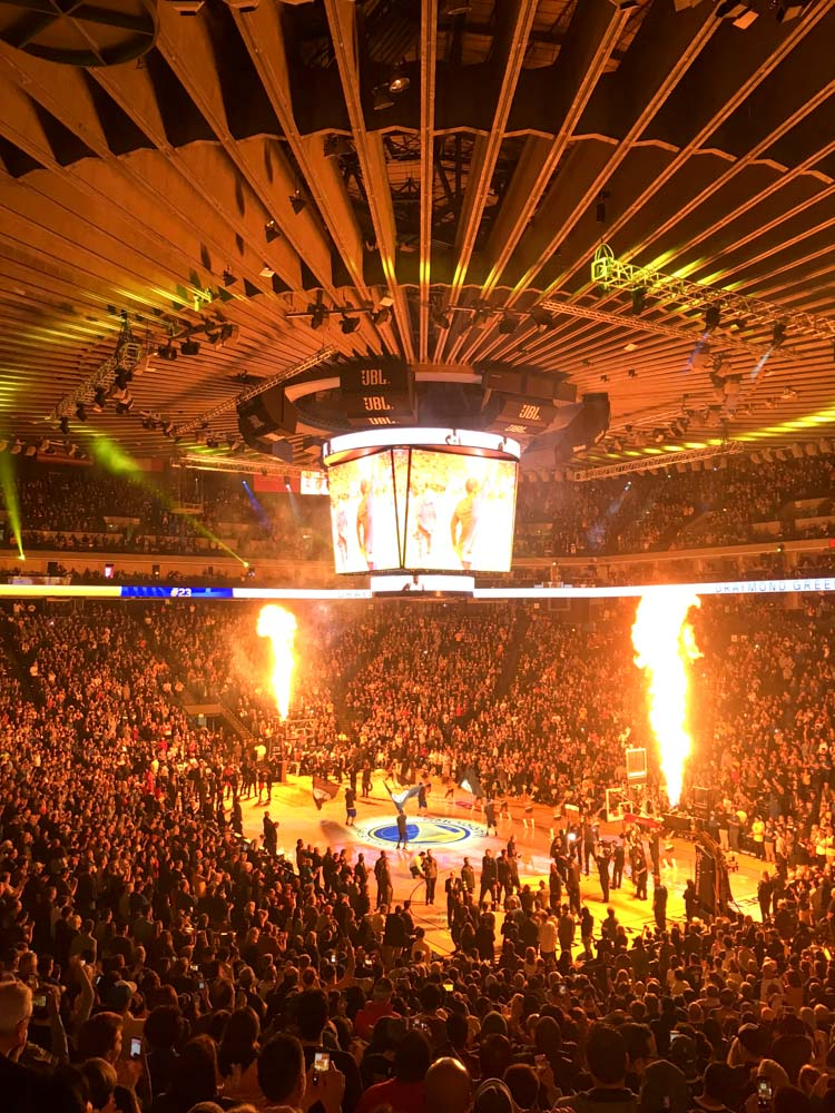 Warriors opening ceremonies by A Lady Goes West