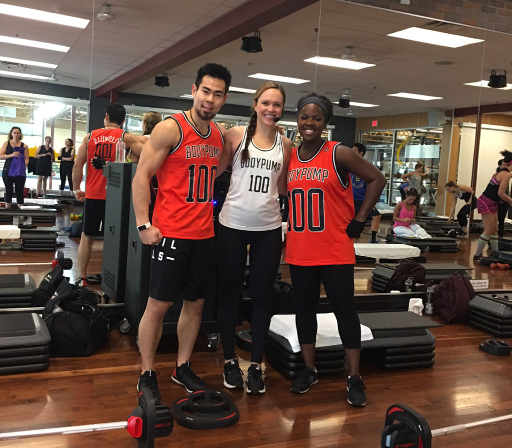 BODYPUMP instructors by A Lady Goes West